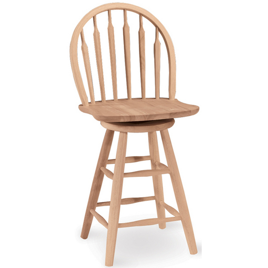 "International Concepts - 24"" or 30"" Windsor Arrowback Stool, 17 1/2"" W x 18"" D x 40 1/2"" H"