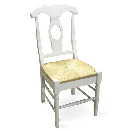 International Concepts - Empire Chairs White Finish with Rush Seat