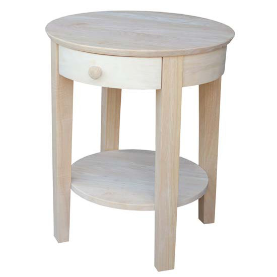 "International Concepts Philips End Table, 21"" W x 21"" D x 22"" H, Unfinished"