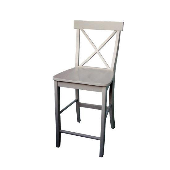 24'' H Seat X-Back Stool