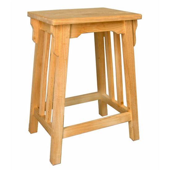 International Concepts Counter Height Mission Bar Stool, Unfinished