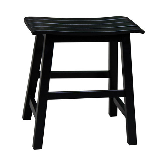 "International Concepts 18'' Slat Seat Stool, RTA, 17-1/2"" W x 13-2/5"" D x 18-2/5"" H, Black"