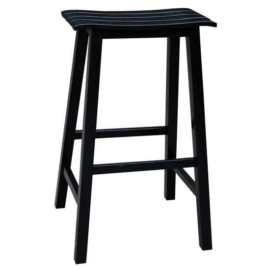 "International Concepts 29'' Slat Seat Stool, RTA, 17-1/2"" W x 16-1/2"" D x 29-2/5"" H, Black"