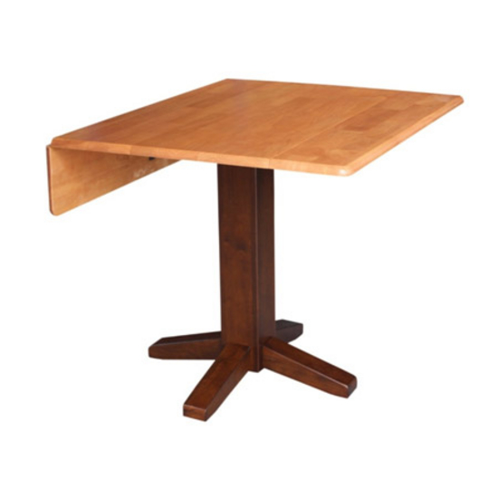 international concepts 36 39 39 square dining table with dual drop leaf