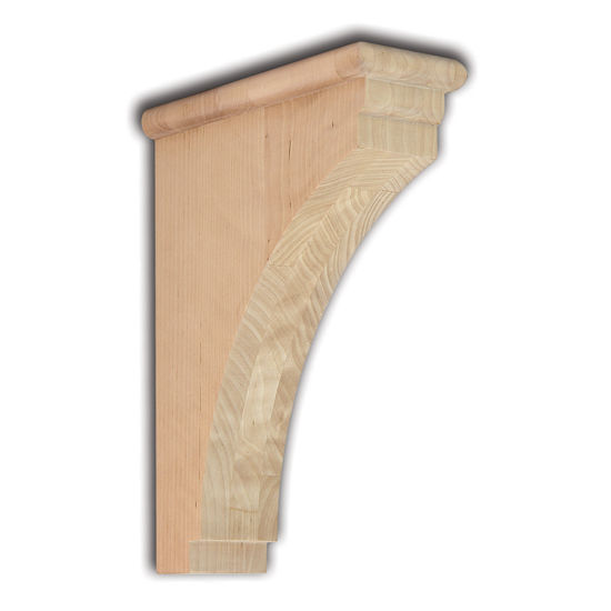"""Woodworx Shaker Corbel, 3-1/2""""W x 9""""D x 12""""H"""
