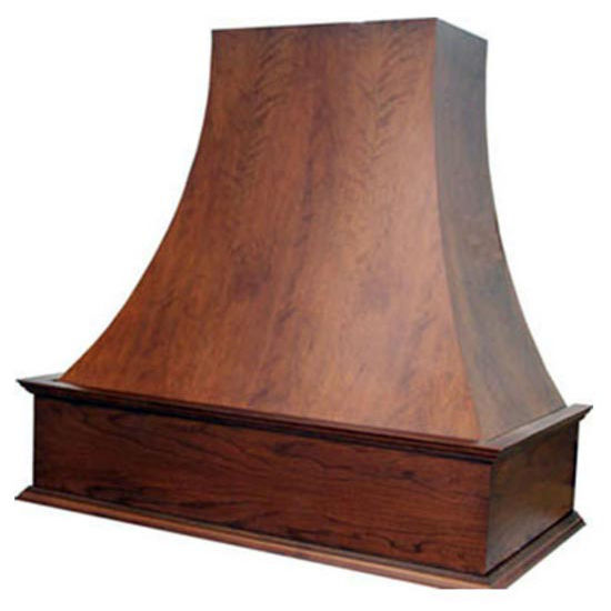 Wood Range Hoods E Series Curved Wall Mount Wood Range
