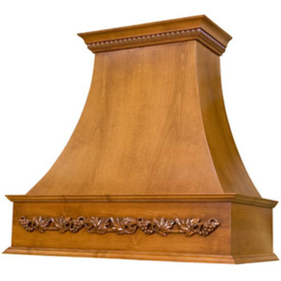 Wood Range Hoods: Wood Range Hoods, E-Series Curved Wall Mount Wood Range