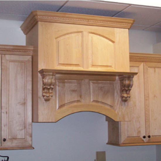 Wood Range Hoods M Series Arched Valance Mantle Style