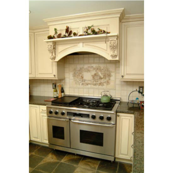 Wood Range Hoods: Wood Range Hoods, M-Series Arched Valance Mantle Style