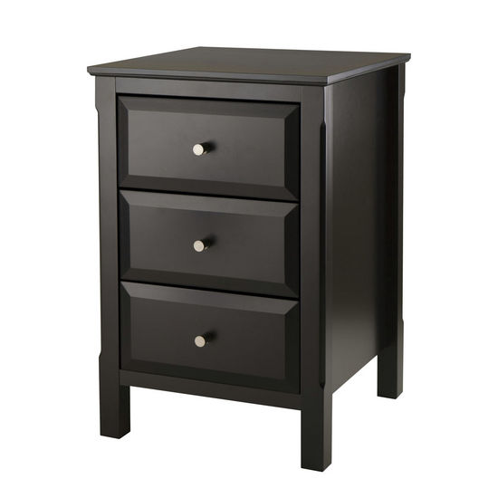 Winsome Wood WS-20315, Timmy Accent Table, Black, 15.75'' W x 15.75'' D x 23.62'' H