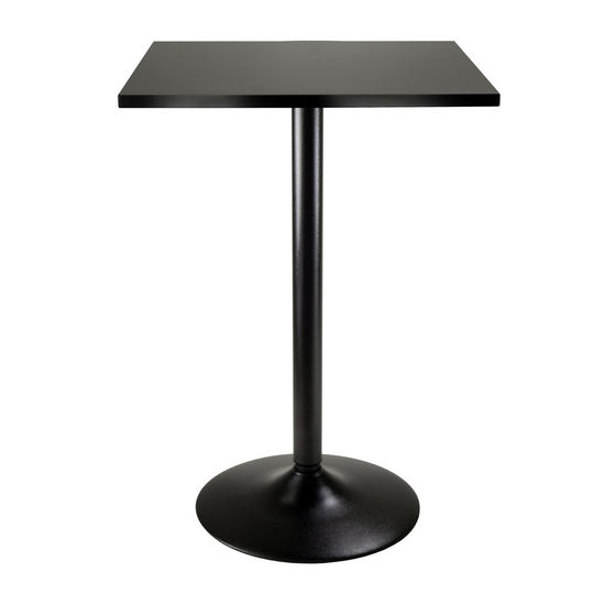 Winsome Wood WS-20522, Pub Table Square MDF Top with Black Leg And Base, Black, 23.7'' W x 23.7'' D x 35'' H