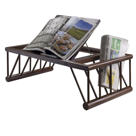 Cambridge Lap Amp Bed Desk With Adjustable Top In Cappuccino