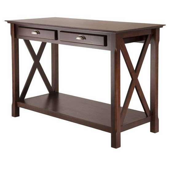 Winsome Wood Xola Console Table with 2 Drawers with Cappucino Finish