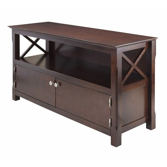 Winsome Wood Xola TV Stand in Cappuccino, 44''W x 15-15/16''D x 24''H