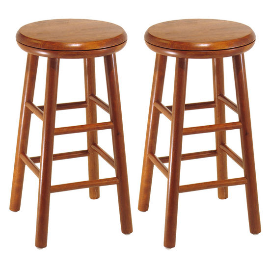 """Winsome Wood 24"""" Swivel Seat Bar Stool in Heritage Cherry Finish"""