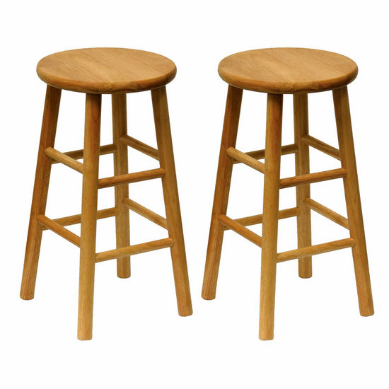 "Winsome Wood 24"" Bar Stool in Solid Beechwood"