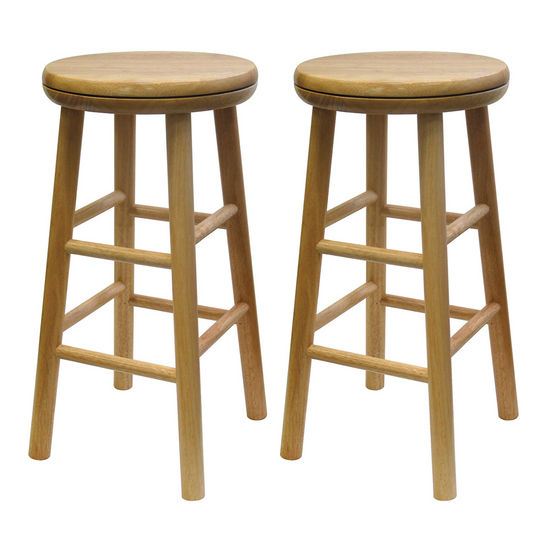 Winsome Wood Swivel 24 Inch Bar Stool In Beechwood Ws