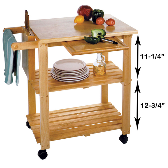 Kitchen Trolley Accessories: Kitchen Utility Cart Brought By Winsome Wood