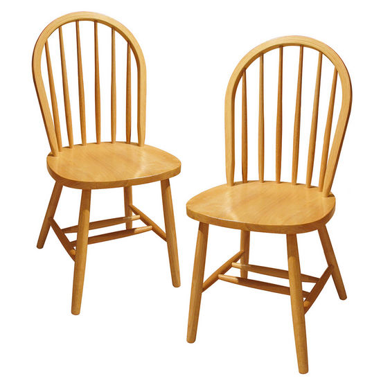 Winsome Wood Windsor Chair in Natural Finish