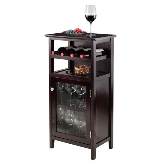 Winsome Wood Alta Wine Cabinet