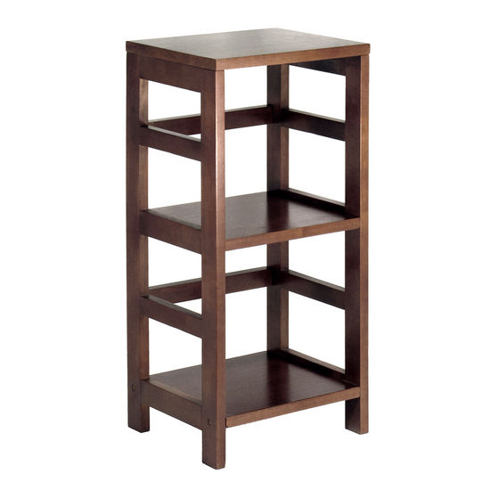 Winsome Wood 2-Section Narrow Storage Shelf