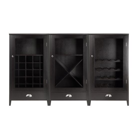 Bordeaux 3-Pc Wine Cabinet