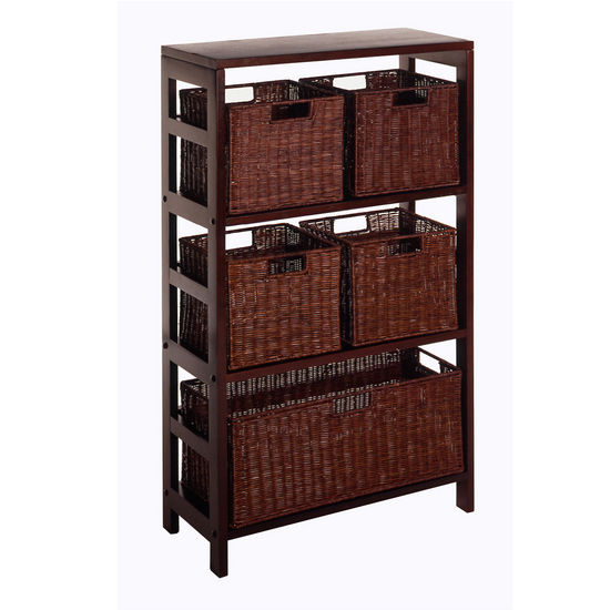 Winsome Wood 3-Section Wide Storage Shelf