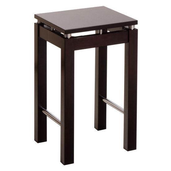 Winsome Wood Bar Stool in Espresso Finish with Square Seat and Two Foot Rests