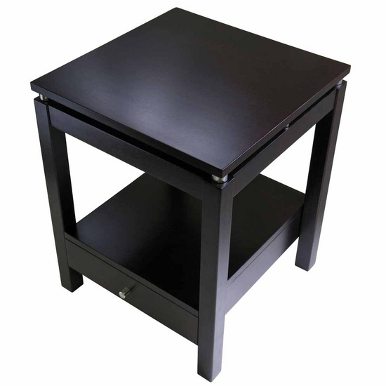 Winsome Wood Linea Night Stand With Antique Walnut Finish