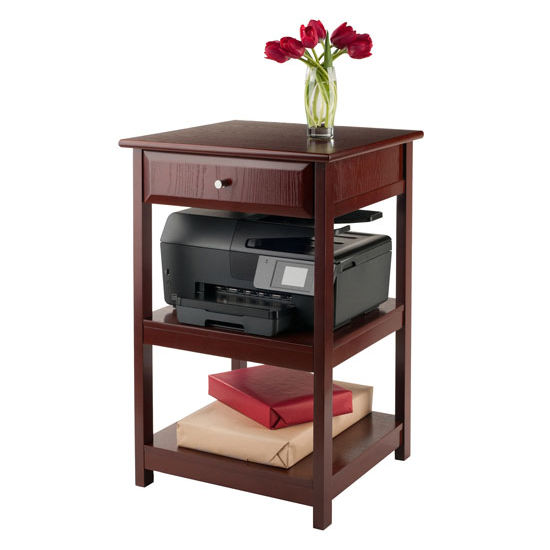 Delta Printer Table With Small Drawer And 2 Shelves In