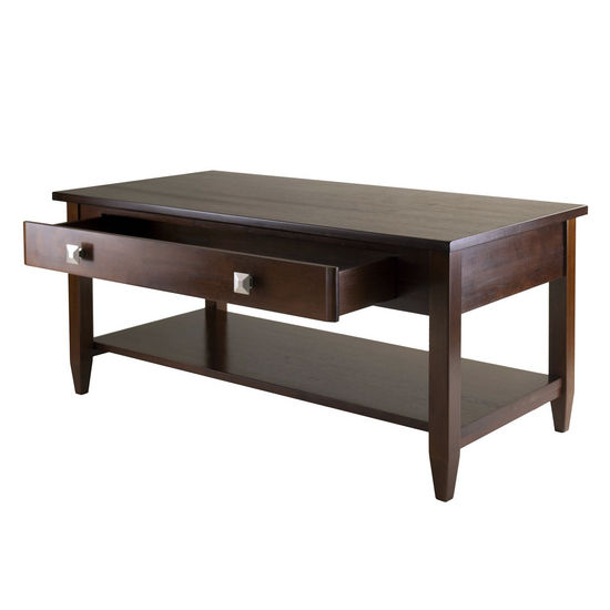 Winsome Wood Home Furnishings Ws 94140 Richmond Coffee Table Tapered Leg In Antique Walnut By
