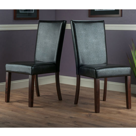 "Winsome Wood Johnson Collection 2-Piece Chair Set in Espresso / Walnut, 18-1/8"" W x 22-1/16"" D x 38-19/32"" H"