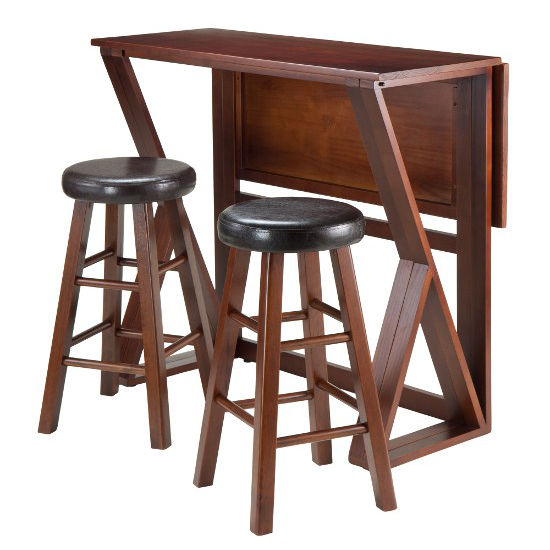 25'' Stools with Table Leaf Down