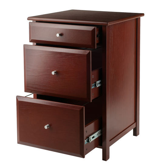 Sarah Check Hearth Cabinet: Delta 3- Drawer Cabinet With 2 File Cabinets By Winsome