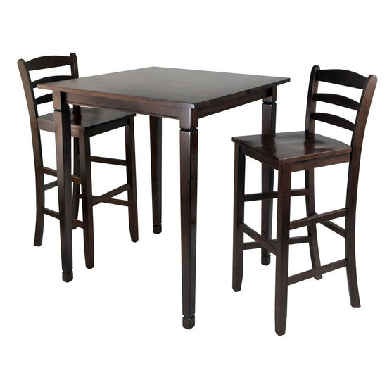 Kingsgate High Pub Dining Table With Ladder Back High Chairs WS 94369