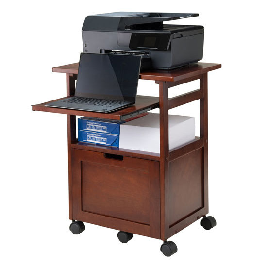 piper portable work cart printer stand with pull out key. Black Bedroom Furniture Sets. Home Design Ideas