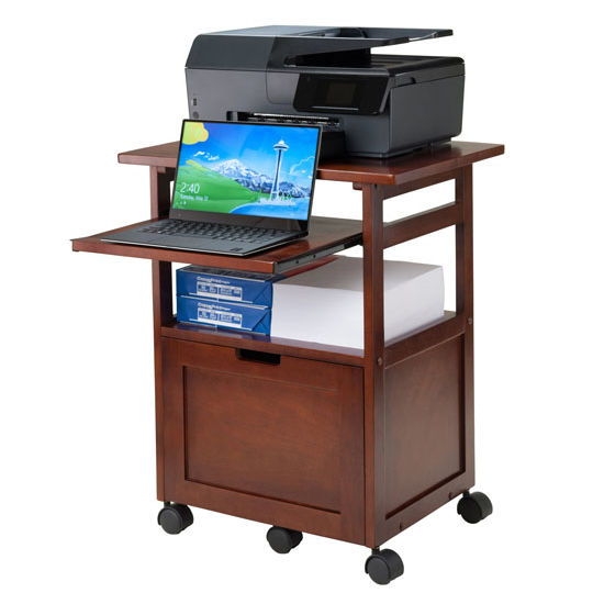 Piper Portable Work Cart Printer Stand With Pull Out Key