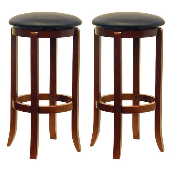 "Winsome Wood 30"" Black Swivel Stools in Set of 2 16""W x 30-7/20""H"