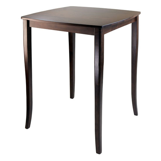 Winsome Wood WS-94733, Inglewood High Table, Curved Top, Antique Walnut, 33.8'' W x 33.8'' D x 38.9'' H