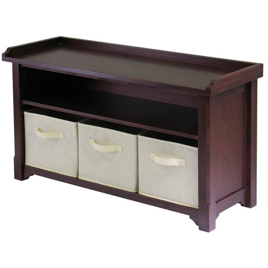 Verona Storage Bench w/Baskets