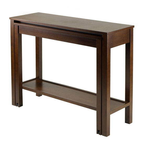Winsome Wood WS-94842, Brandon Expandable Console Table, Antique Walnut, 39.37'' W x 23.78'' D x 30.51'' H