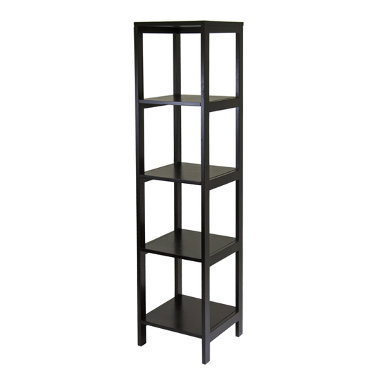 Winsome Wood Hailey 5-Tier Tower Shelf