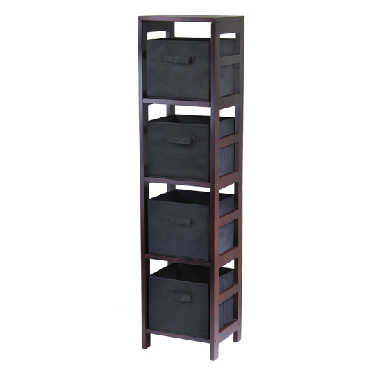 Winsome Wood Capri 4-Section Storage Shelf