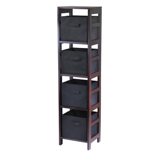 Winsome Wood Capri 4-Section Storage Shelf