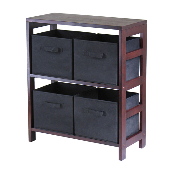 Winsome Wood Capri 2-Section Storage Shelf