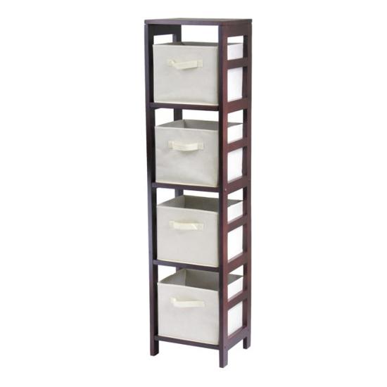 Winsome Wood Capri 4-Section N Storage Shelf