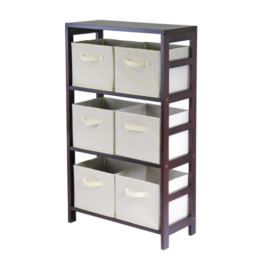 Winsome Wood Capri 3-Section M Storage Shelf
