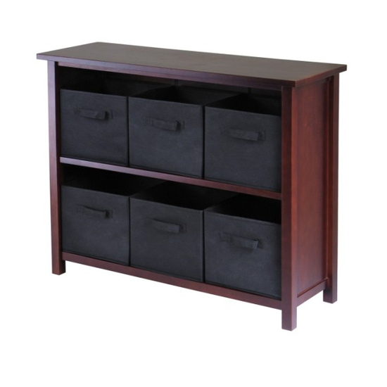 Winsome Wood Verona 2-Section W Storage Shelf