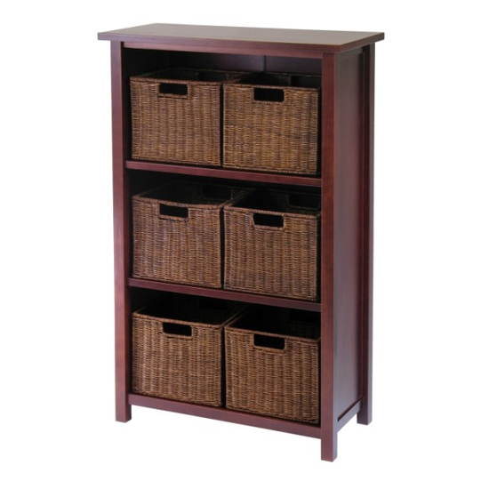 Winsome Wood Milan 7Pc Cabinet/Shelf