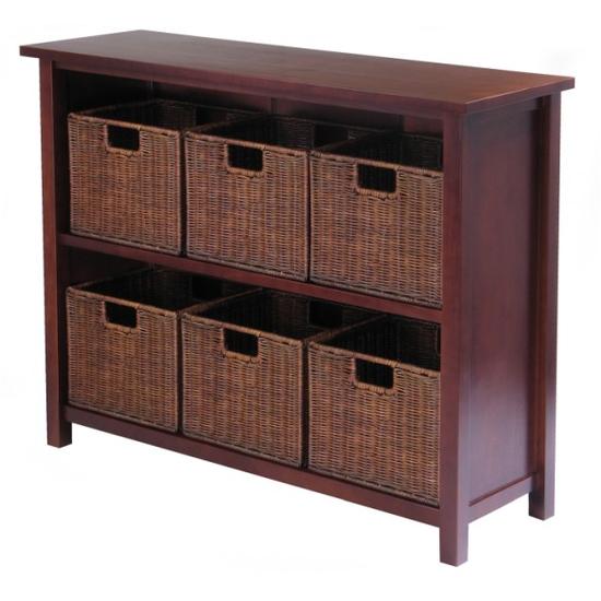 Winsome Wood Milan 7Pc Storage Shelf